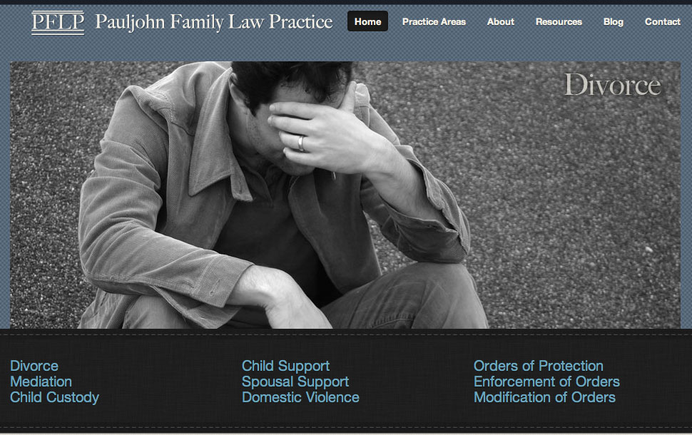 Redesigned Pauljohn Family Law Practice Website