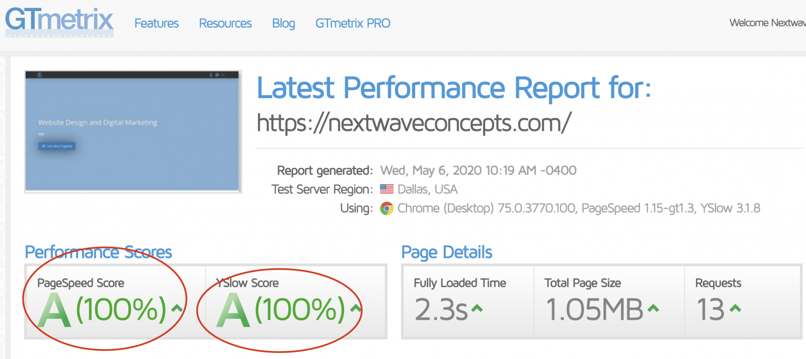 WordPress Site Speed Optimization Service Results
